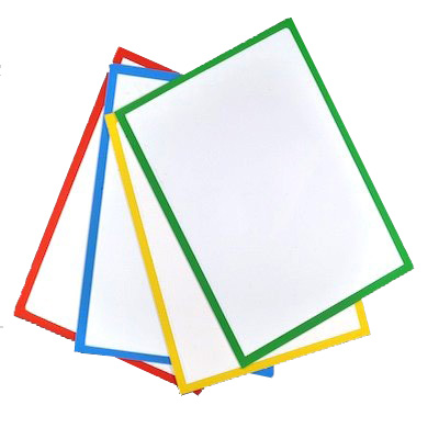 Pochette magnétique bordures de couleur